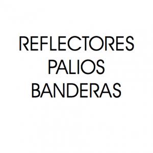 Reflectores, palios y banderas